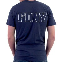 55566 Maltese Cross Duty T-shirt (navy) FDNY126 bk