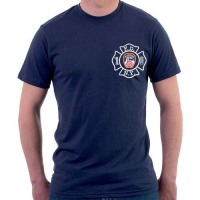 55566 Maltese Cross Duty T-shirt (navy) FDNY126 frnt