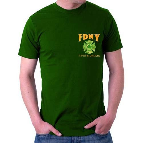 55567 Pipes _ Drums T-shirt FDNY134 bk