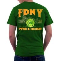 55567 Pipes _ Drums T-shirt FDNY134 frnt