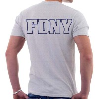 55570 Maltese Cross T-shirt (gray) FDNY568 bk