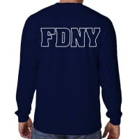 55577 Maltese Cross Long sleeve FDNY126LS bk