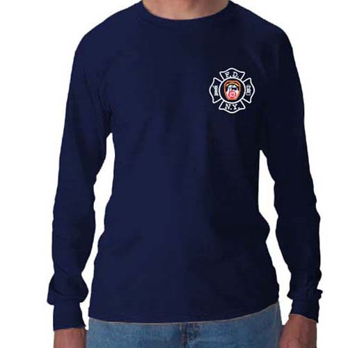 55577 Maltese Cross Long sleeve FDNY126LS frnt