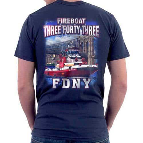 55614 Fire Boat 343 T-shirt bk