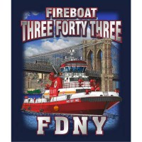55614 Fire Boat 343 T-shirt bk only