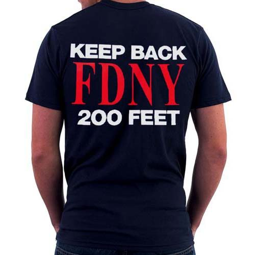 55617 Keep Back T-shirt FDNY102 bk