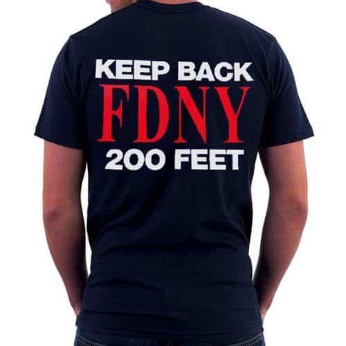 55617 Keep Back T-shirt FDNY102 bk