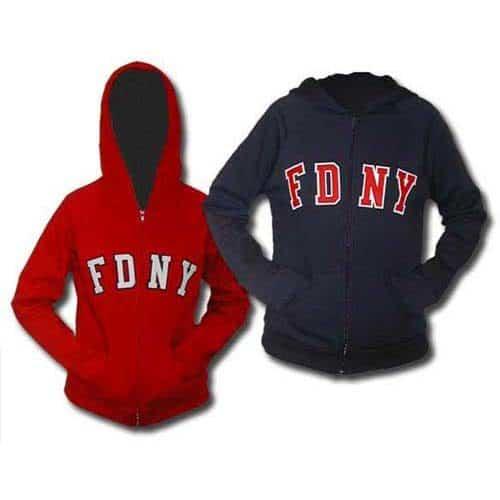 55621 Ladies Zip Hood duo FDNY125