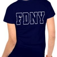 55639 Ladies Maltese Cross V-neck (Navy) FDNY126V bk