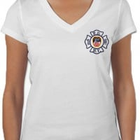55684 Ladies Maltese Cross V-neck (White) FDNY126V.jpg bk