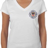 55684 Ladies Maltese Cross V-neck (White) FDNY126V.jpg bk