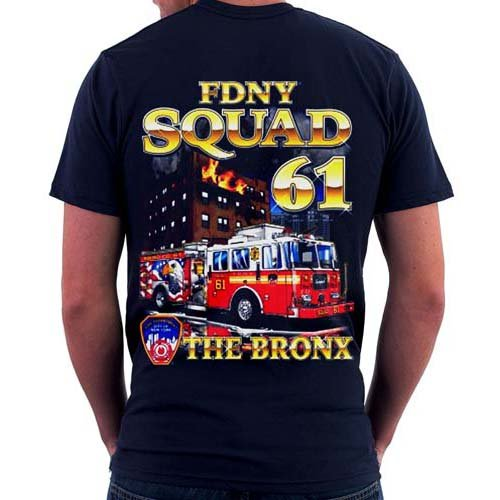 Bronx New York City Fire Dept Squad 61 Patch