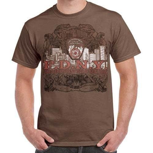 55758 FDNY NYC Skyline Tshirt frnt
