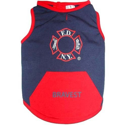Dog FDNY T-shirt bk