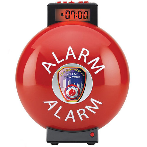 Fire Bell Alarm Clock 03032-2