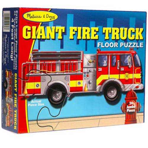 Giant Fire Truck Floor Puzzle Fdny Shop