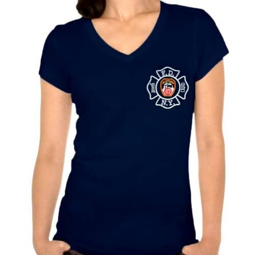 Ladies-Maltese-Cross-V-neck-Navy-FDNY126V-frnt-2