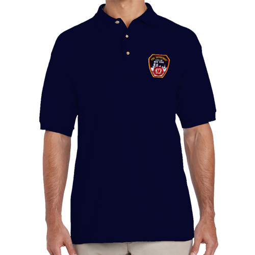 Fdny emblem golf shirt 2 colors fdny shop for Name brand golf shirts
