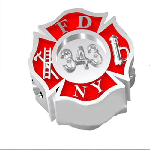 FDNY 343 Maltese Cross Charm 01396