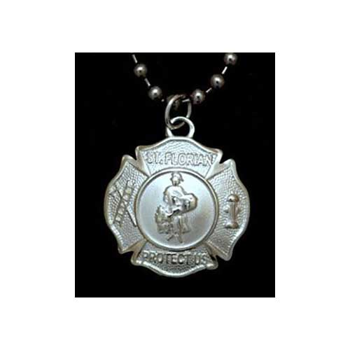 St Florian Necklace: FDNY ST. FLORIAN PENDANT ON CHAIN