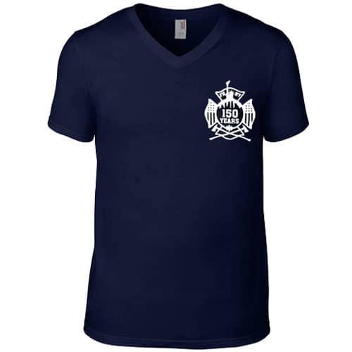 150th V-neck t-shirt frnt