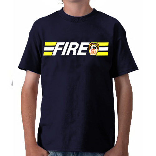 55588 Kids Fire StripeT-shirt FDNY104 frnt 500px