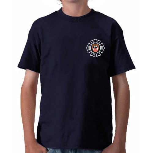 55596 Kids Maltese Cross T-shirt frnt FDNY127