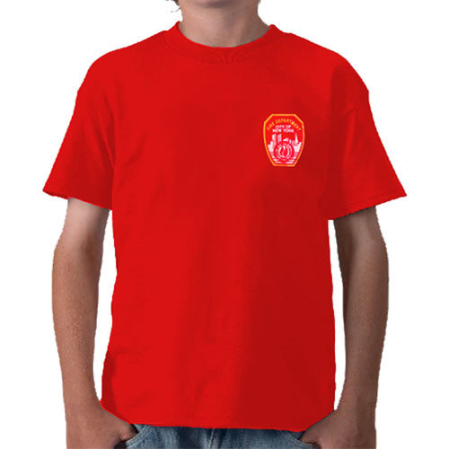 55701 Kids FDNY Emblem T-shirt (red) FDNY112 frnt
