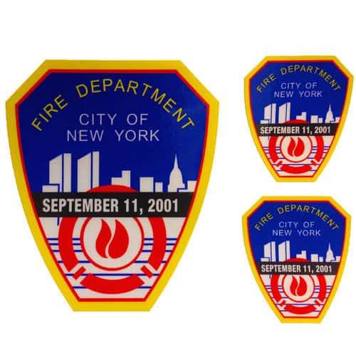 9-11 Reflective emblem decal 3pk ECS