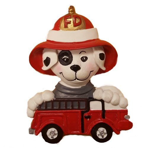 dalmatian-on-truck-ornament