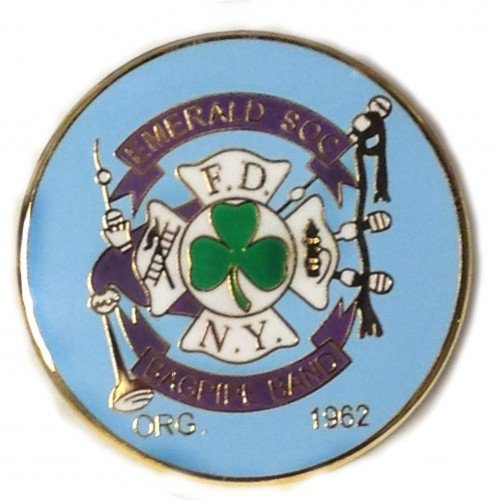 Emerald Society Bagpipes Pin 00731