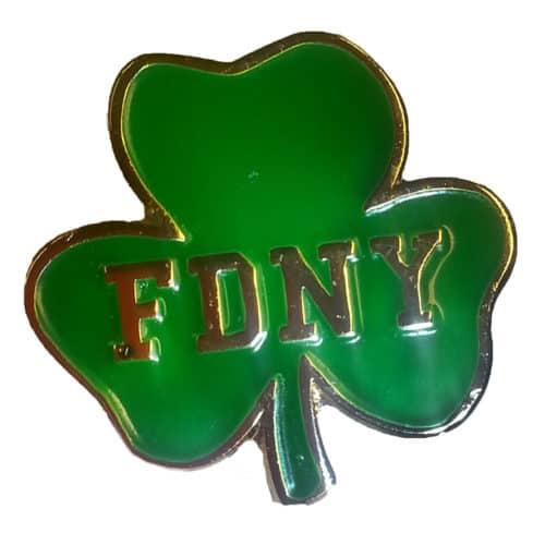 FDNY Shamrock Pin 00344