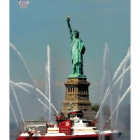 "6037C - FDNY FIREBOAT ""343"" & STATUE OF LIBERTY"