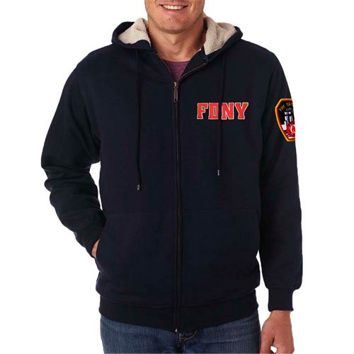 55900 Fleece Full Zip Hood sm