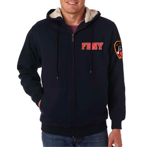 55900 Fleece Full Zip Hood sm