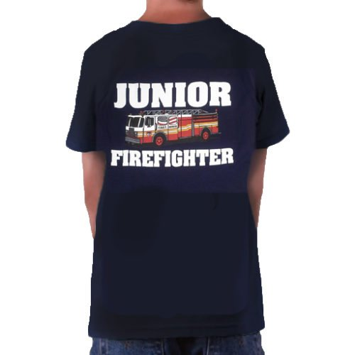 Kids Jr FF FDNY  t-shirt bk