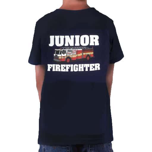 cfb88e2e155 JR FIREFIGHTER W  TRUCK KIDS T-SHIRT