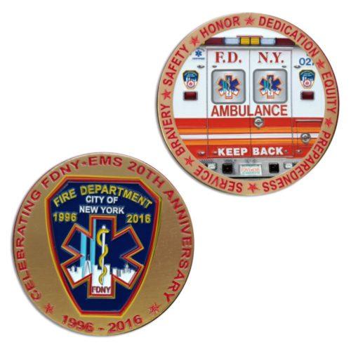 FDNY EMS 2O Coin duo
