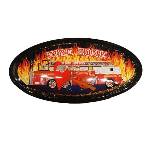 Firetruck Globe Magnet