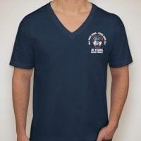 343 All Gave Some V-neck frnt - m