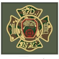 FDNYCamoTee Grn frnt logo