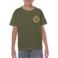 Kids FDNY Support Our Troops - Green Camo frnt