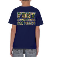 Kids FDNY Support Our Troops - Navy Camo bk