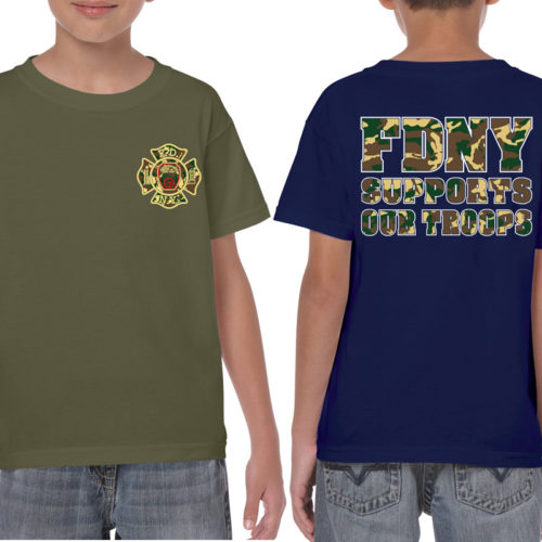 Kids FDNY Support Our Troops - duo