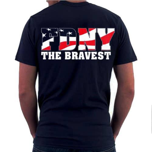 Bravest Flag T-shirt bk