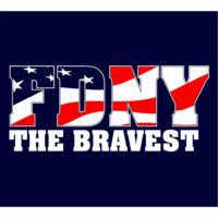 Bravest Flag T-shirt logo bck