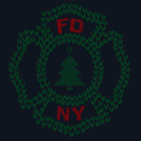 FDNY Ugly Christma Sweater Long Sleeve T-shirt logo