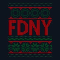 FDNY Ugly Christma Sweater Long Sleeve T-shirt logo2