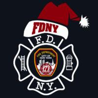 Kids FDNY Santa tshirt logo