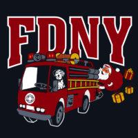 Kids FDNY Santa tshirt logo2